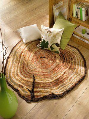 wood-grain area rug | nature inspired home decor | pinterest