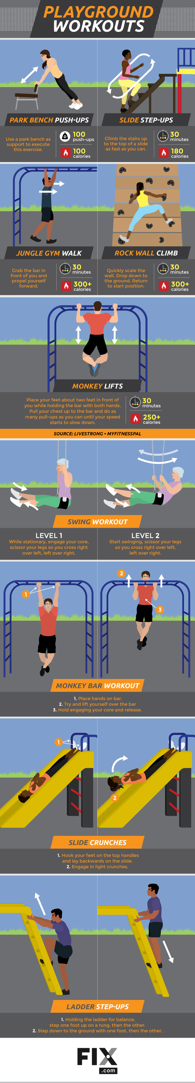 Playground Workouts #Infographic