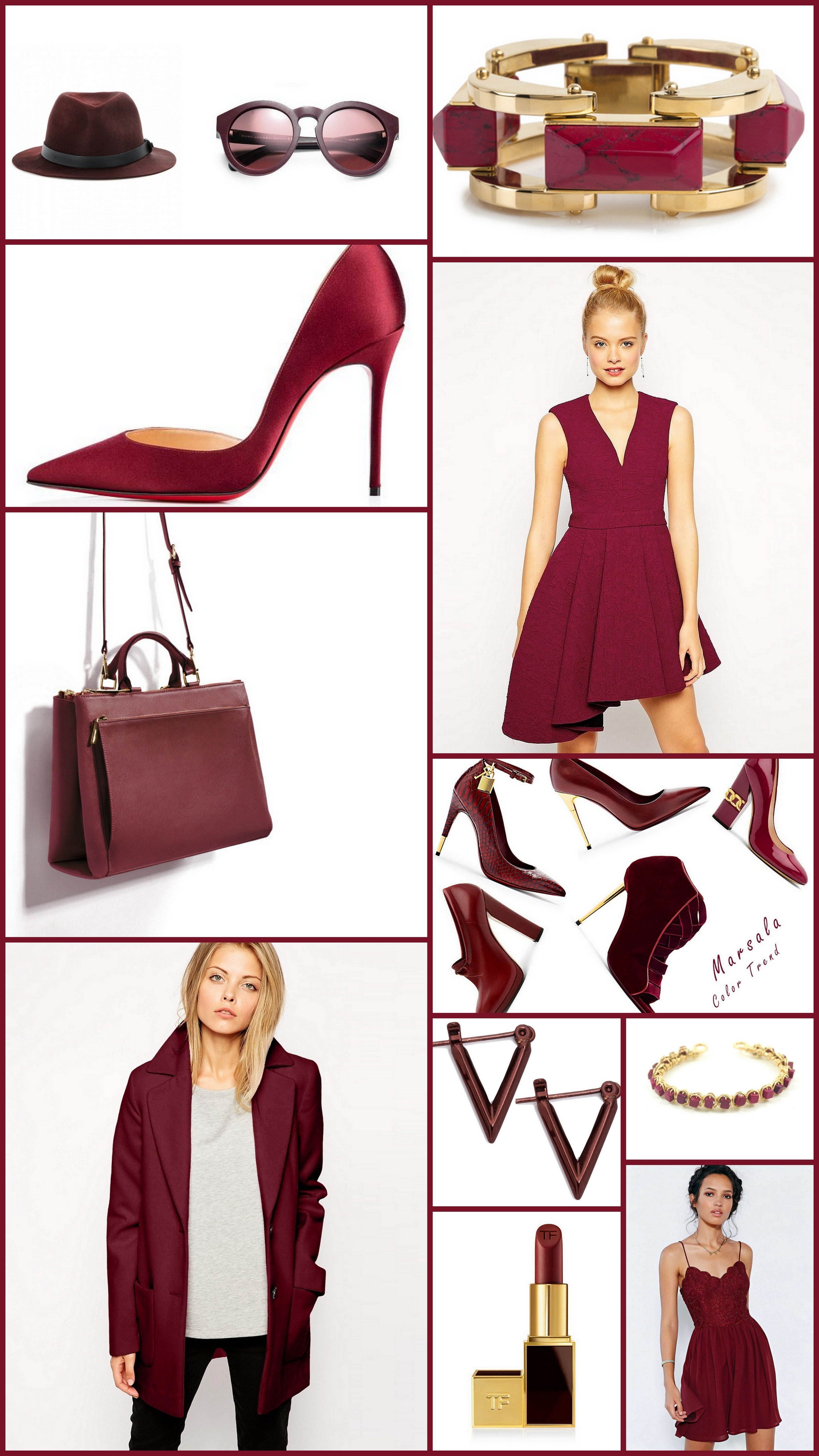 Sport the colour of the season Marsala in numerous ways... Add it to your OOTD and be the trend diva