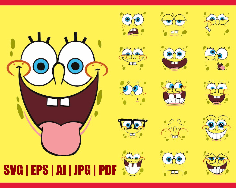 Spongebob Faces Svg Sponge Bob Svg Square Pants Svg Etsy In 2021 Spongebob Faces Spongebob Wallpaper Spongebob