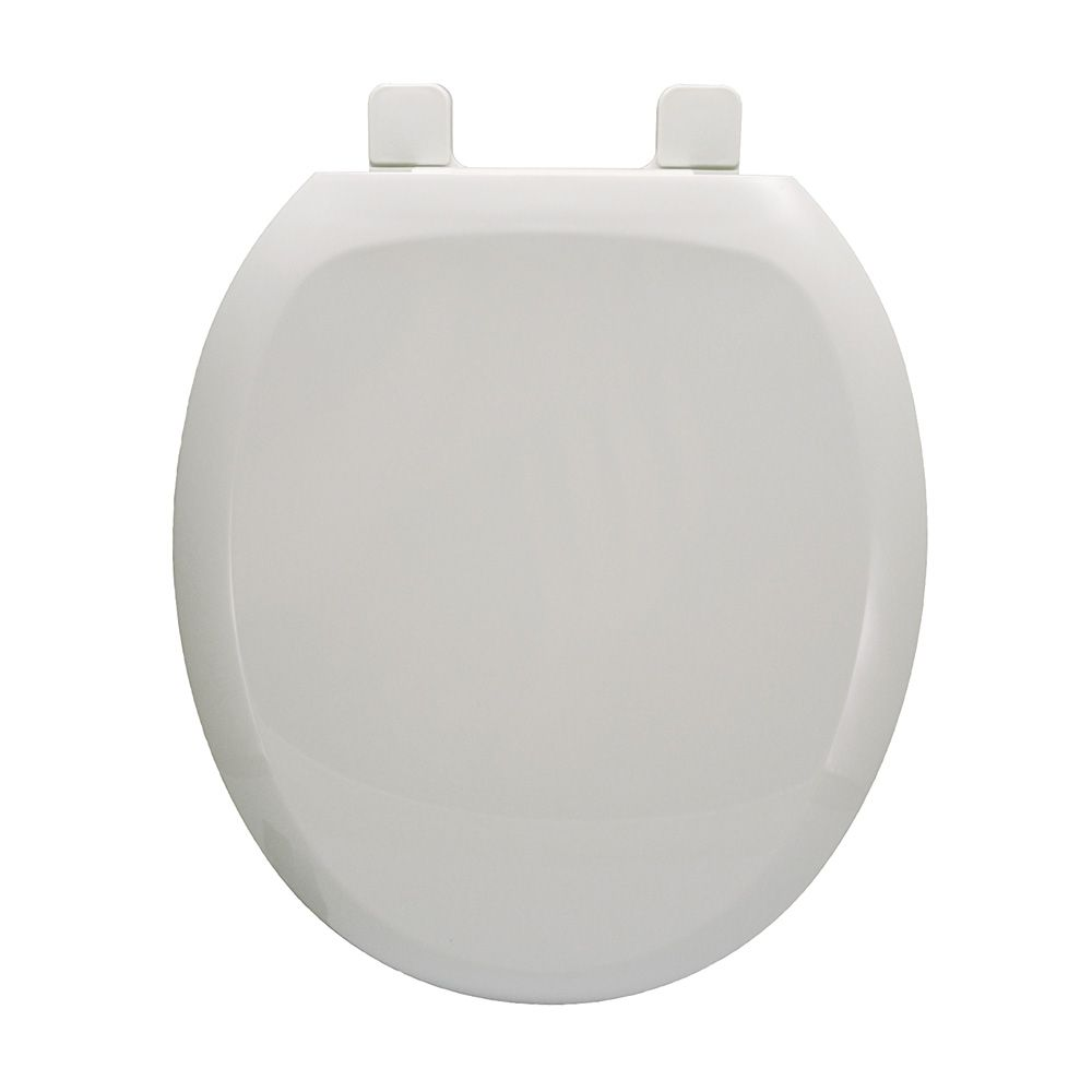 Comfort Seats C1606hpss00 Premium Plastic Seat White Stainless Steel Hinge Posts Round Closed Front With Cover Stainless Steel Hinges Stainless Steel Bolts Hinges