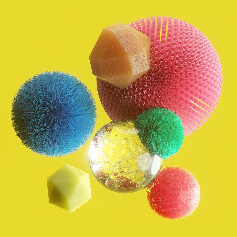 Material Objects © David McLeod I Ilustración 3D I Cóctel Demente