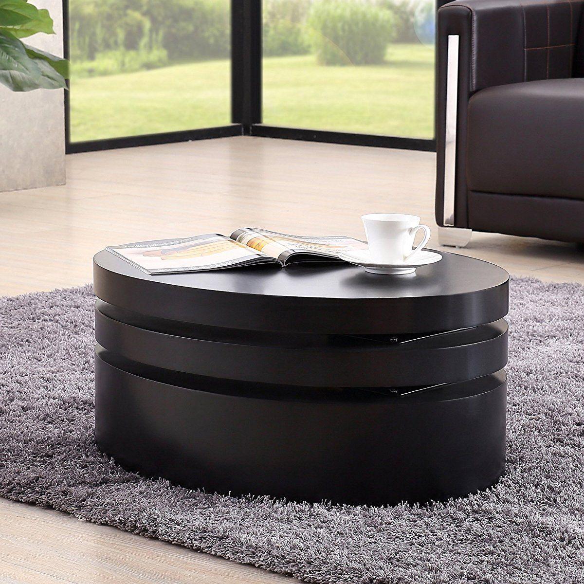 Uenjoy rotating coffee table swivel coffee table pinterest uenjoy rotating coffee table geotapseo Image collections