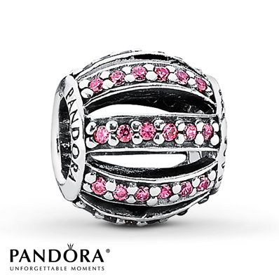 Pandora Charm Pink CZ Sterling Silver Jared Jewelers 5500