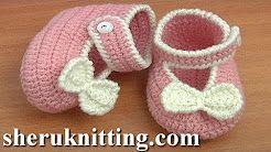 crochet newborn shoes - YouTube