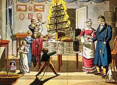 Biedermeier Christmas.