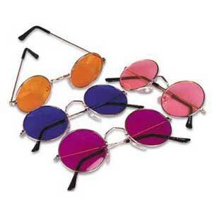 2f5c6832eb6 John Lennon Ozzy Osbourne John Lennon   Ozzy Osbourne Hippie style round  wire rim sunglasses with colored lenses. This is the style worn by both  John Lennon ...
