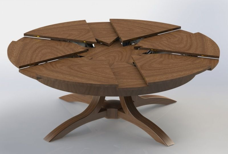 smartroundexpandablediningtabledesign The Best Furniture