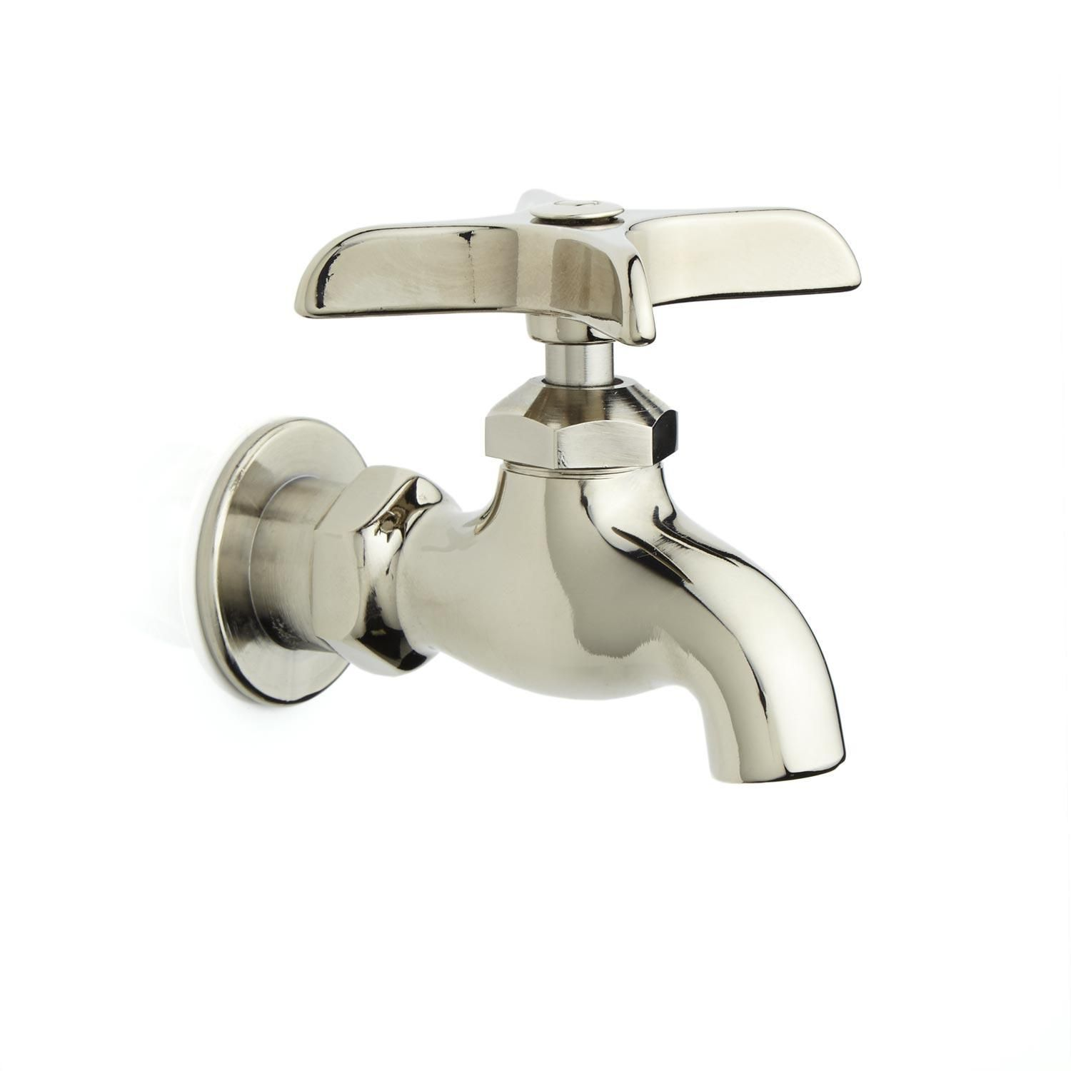 Single wallmount faucet with cross handle wall mount faucet