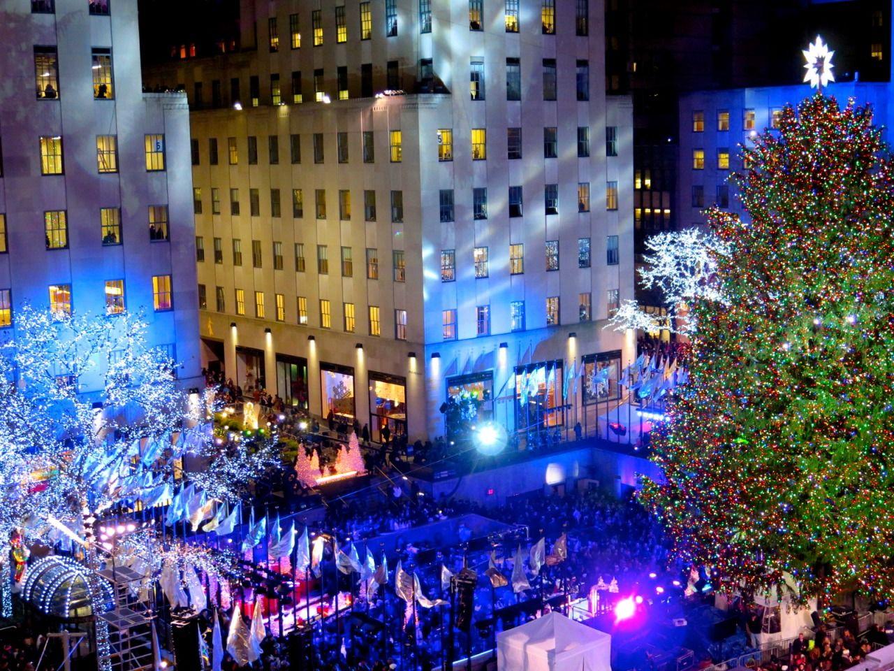 Christmas tree lighting at Rockefeller Center #InStyle