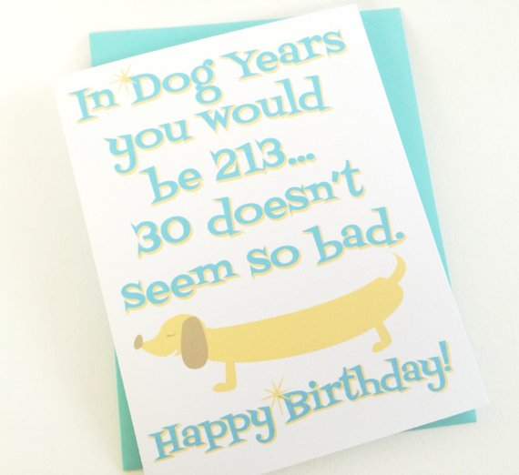 30th Birthday Card In Dog Years Mom Over The Hill Party Happy Best Frien