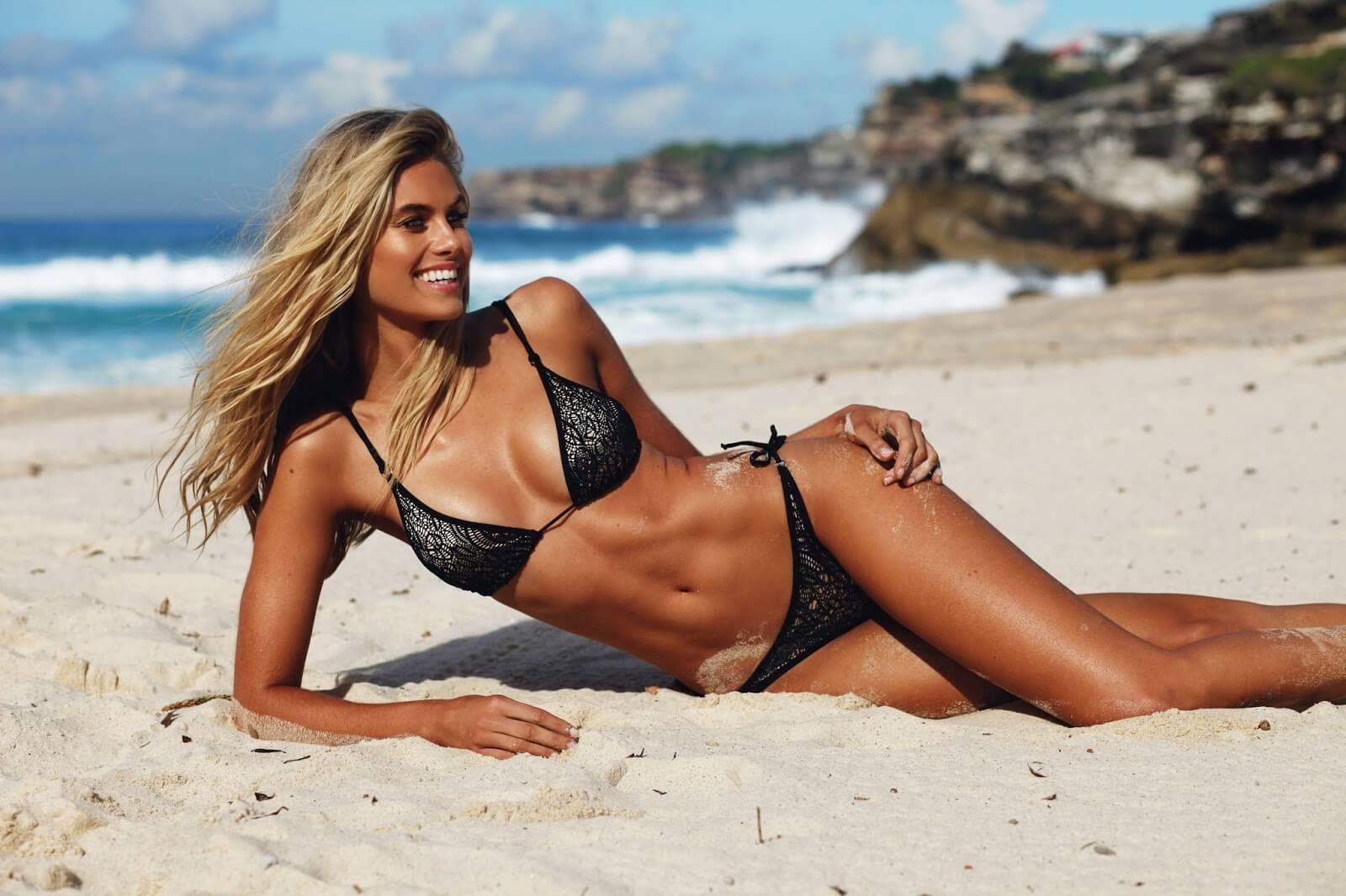 Women's australia beach halter bikini swimwear swimsuit australian flag navy