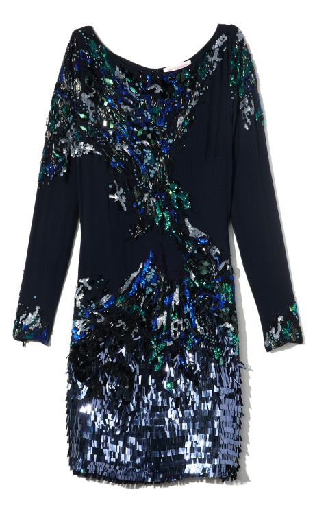 Matthew Williamson Embroidered Long Sleeve Dress