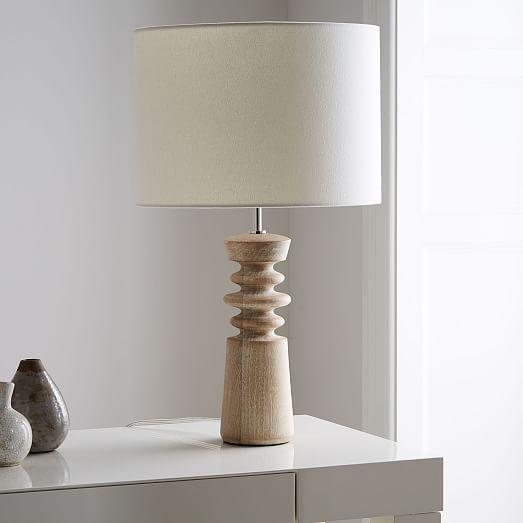 Turned Wood Table Lamp Medium West Elm Table Lamp Wood Table Lamps Living Room Table Lamp Design