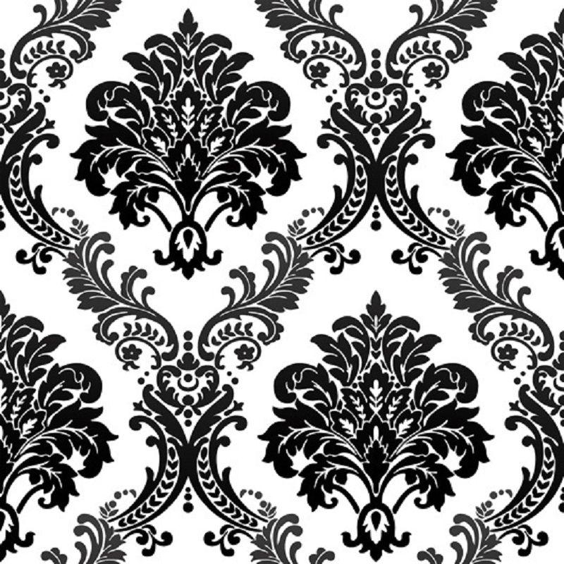 10 M Roskoshnye Starinnye Chernyj Damask Na Belyj Teksturirovannye Tisneniem Flokirovanie Oboev Spalni Oboi Velvet Wallpaper Textured Wallpaper Flock Wallpaper