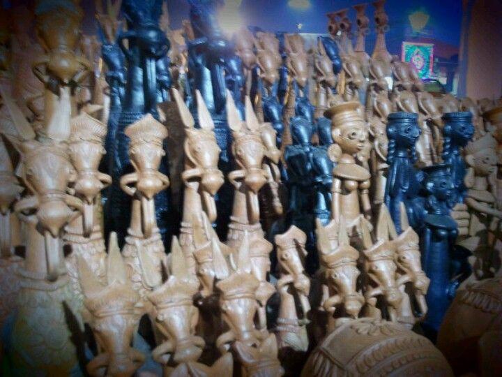 Local handicrafts.... Bankura, West Bengal, India.