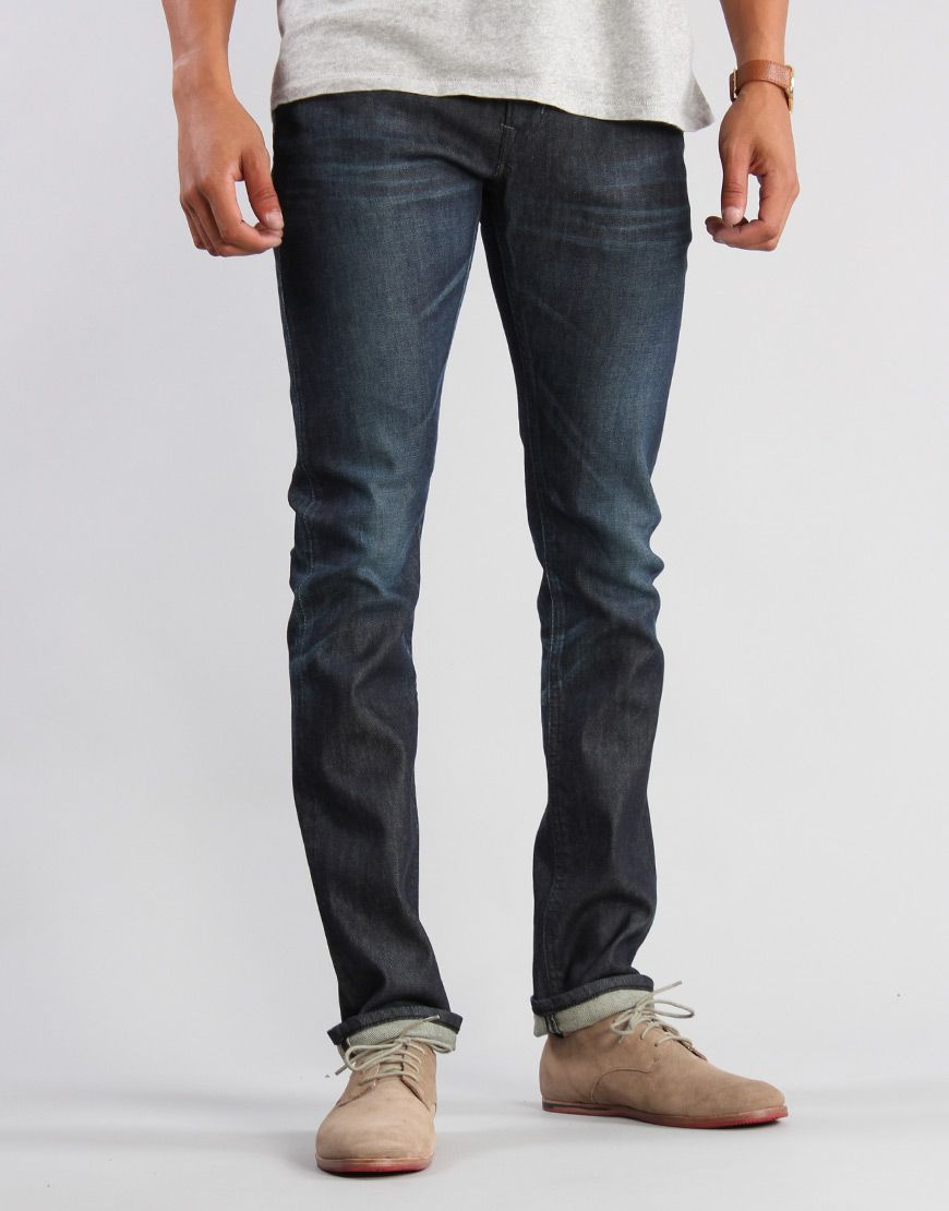 Edwin Sen Selvage Skinny Dark Colour Used Jeans - Kaeho Australia