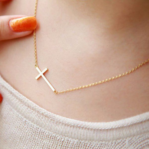ff68afffd91 Stylish Simple Design Cross Pendant Necklace For Women | Jewelry Is ...