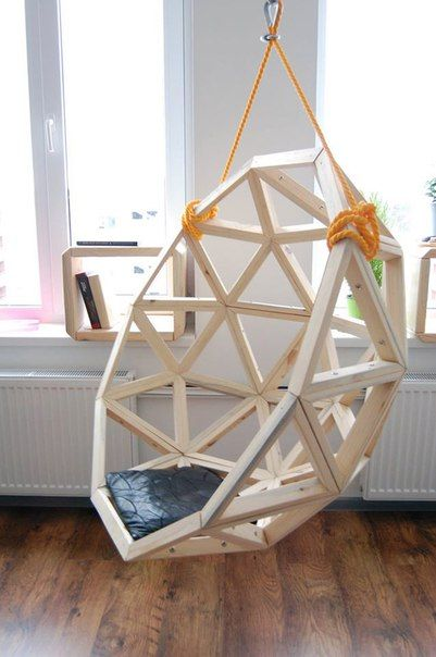 By geodesic hang chair hangstoel diy upcycling m bel u a - Schaukelstuhl selber bauen ...