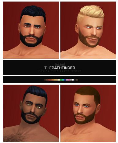 The Pathfinder I Facial I Male I by XLD_Sims via Tumblr I