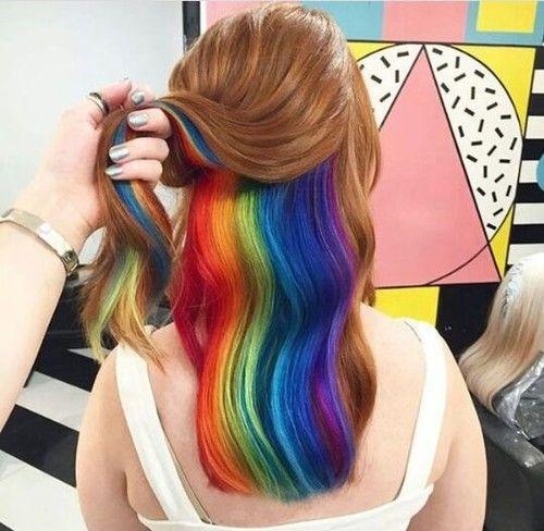 renkli saç uploaded by Buse Tire on We Heart It #renk #hİho #saç #model #colors #rainbow #orospu #harika #hair #boya #followback #random #FF #photooftheday #L4L
