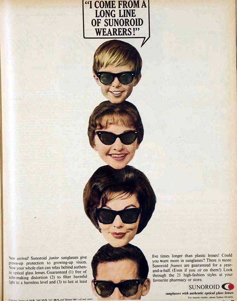 5dcee655c2 1961 sunglass ad from Sunoroid Cat Eye Glasses