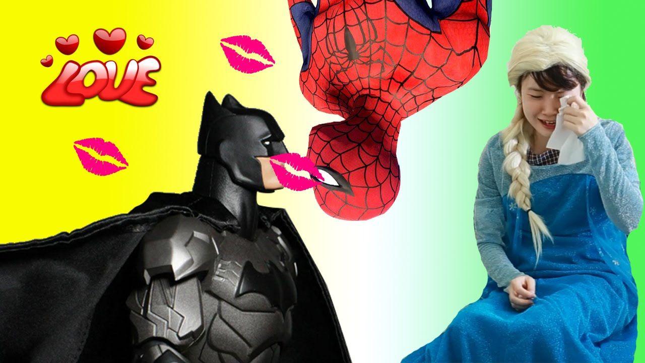 Spiderman Vs Batman In Real Life Beacause Of Elsa Batman And Spiderman Funny Pranks Day Youtube
