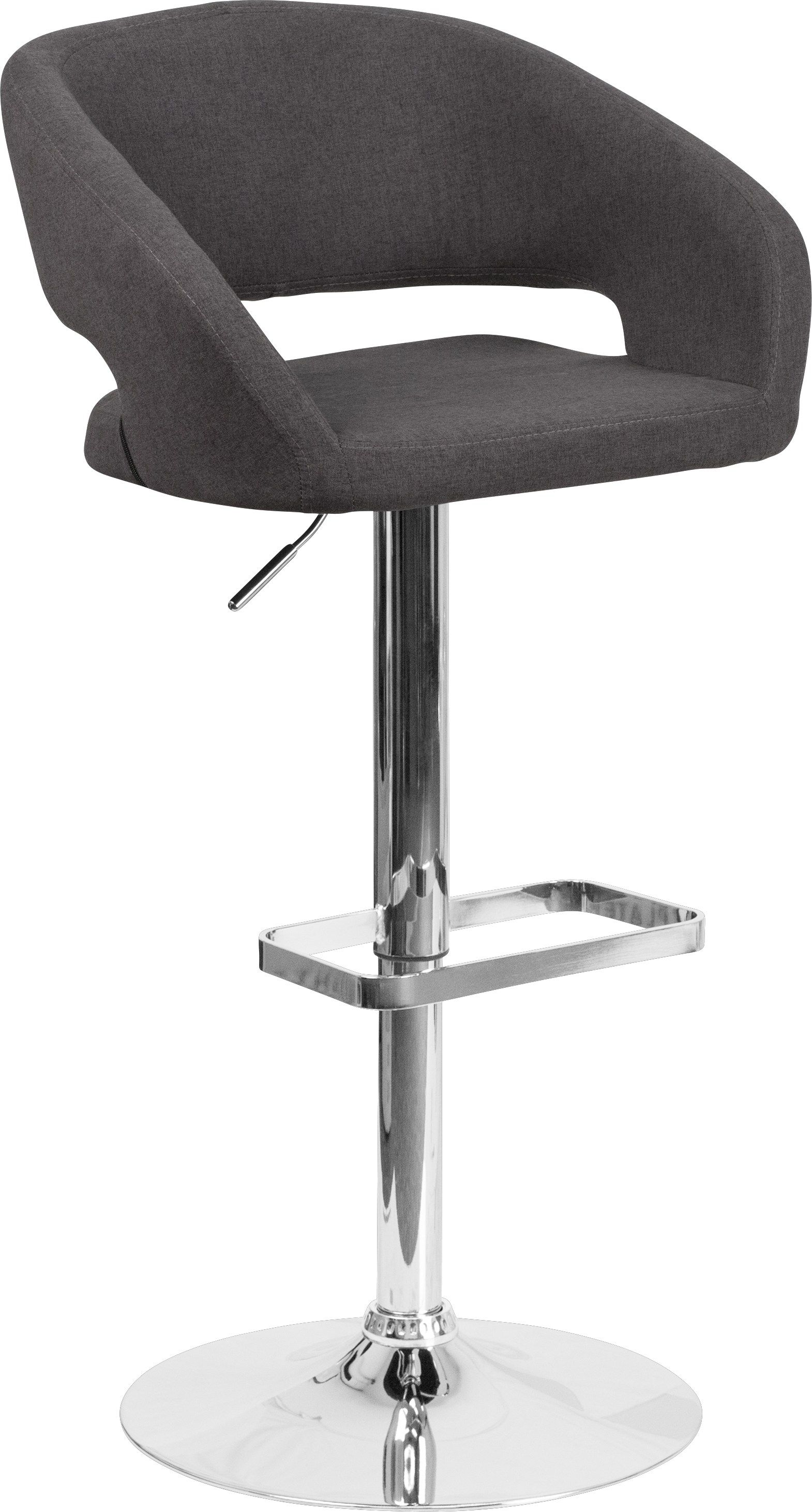 Enjoyable Corley Black Plush Adjustable Swivel Barstool Island Area Inzonedesignstudio Interior Chair Design Inzonedesignstudiocom