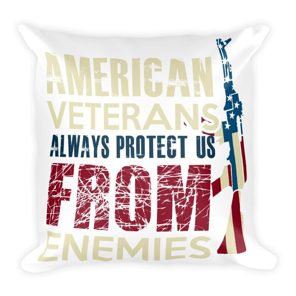 Excellent American Veterans Square Pillow Decorative Bed Pillows Alphanode Cool Chair Designs And Ideas Alphanodeonline