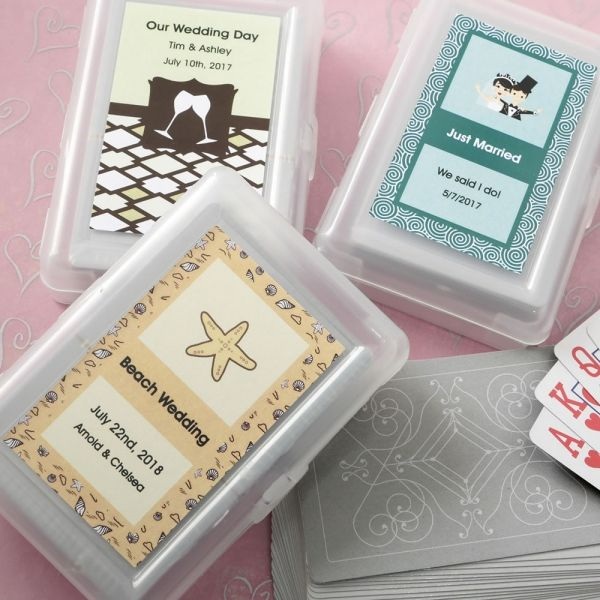 personalized designer expressions playing cards wedding