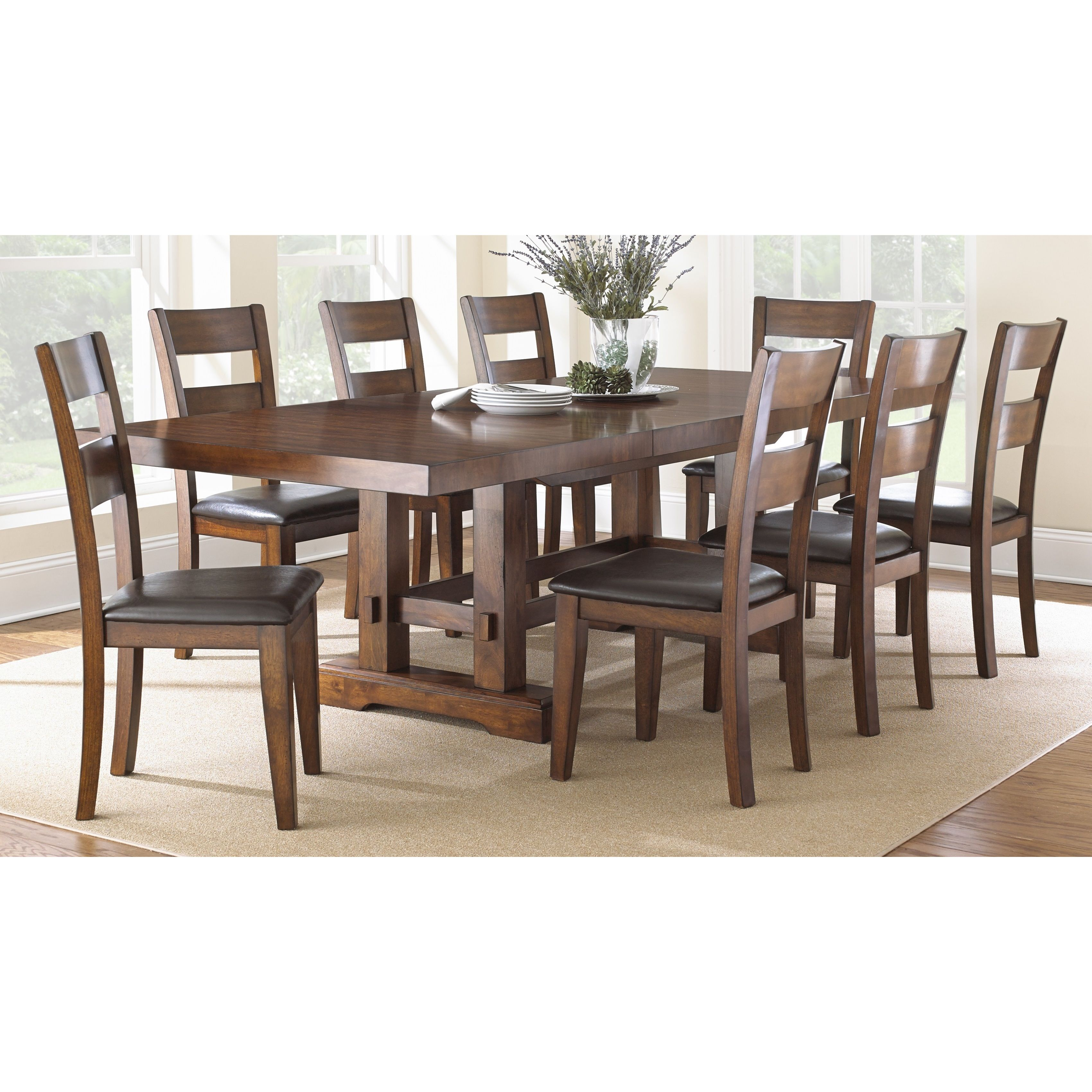 Greyson living denver dining set by greyson living dark for Complete dining room sets