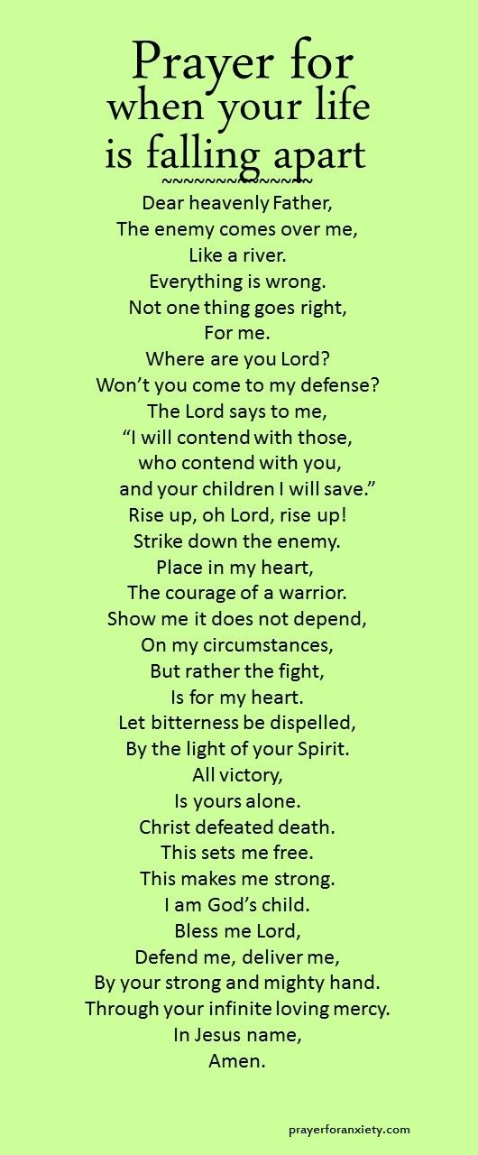 Prayer for when your life is falling apart