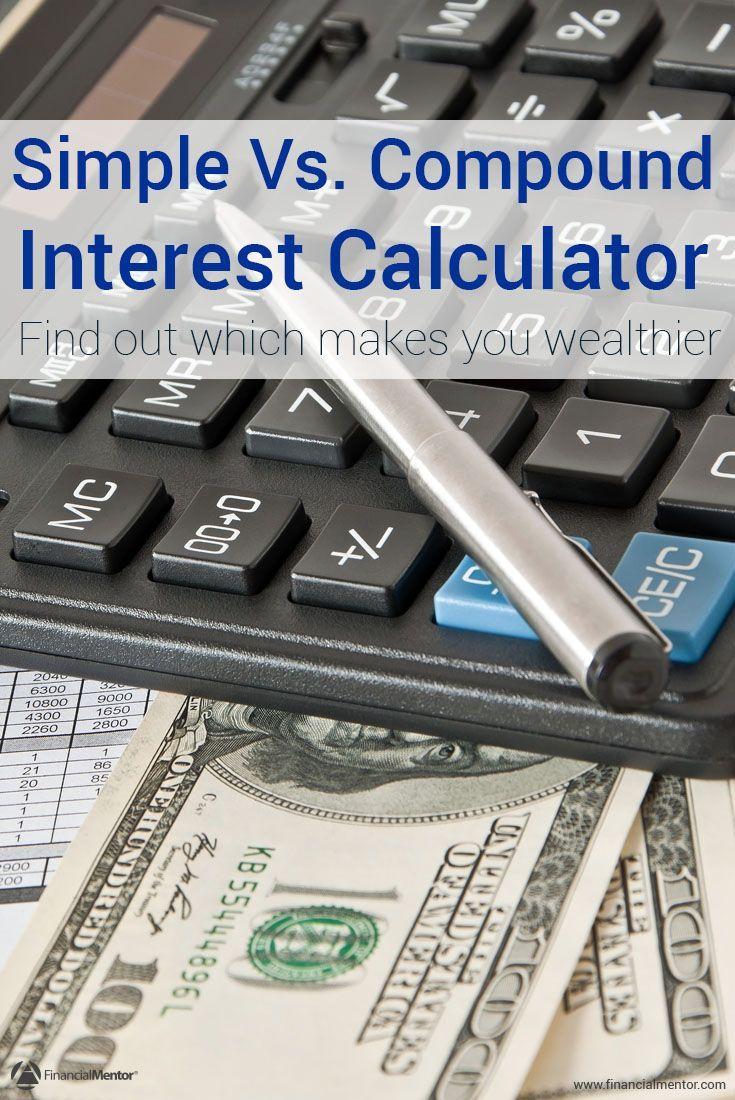 Interest Calculator Simple Vs Compound Interest Calculator Interest Calculator Investing Calculator