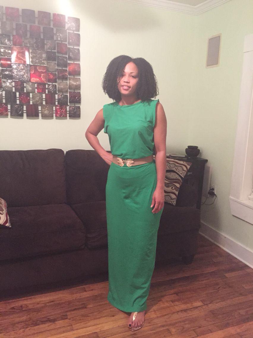 DIY Green Maxi dress
