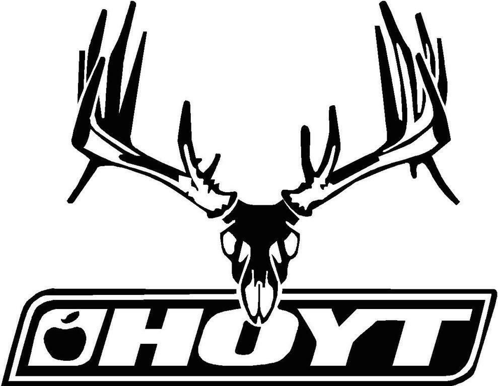 Details About Hoyt Bow Hunting Deer Hunter Vinyl Decal Truck Car