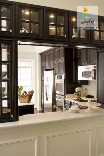 مطابخ 2016 تصميم مطبخ بشباك مناولة صور تجعلك تفكر اكثر فى جودة التصميم والتنفيذ لوكيشن ديزين نت ديكور Elegant Kitchens Kitchen Remodel Kitchen Design
