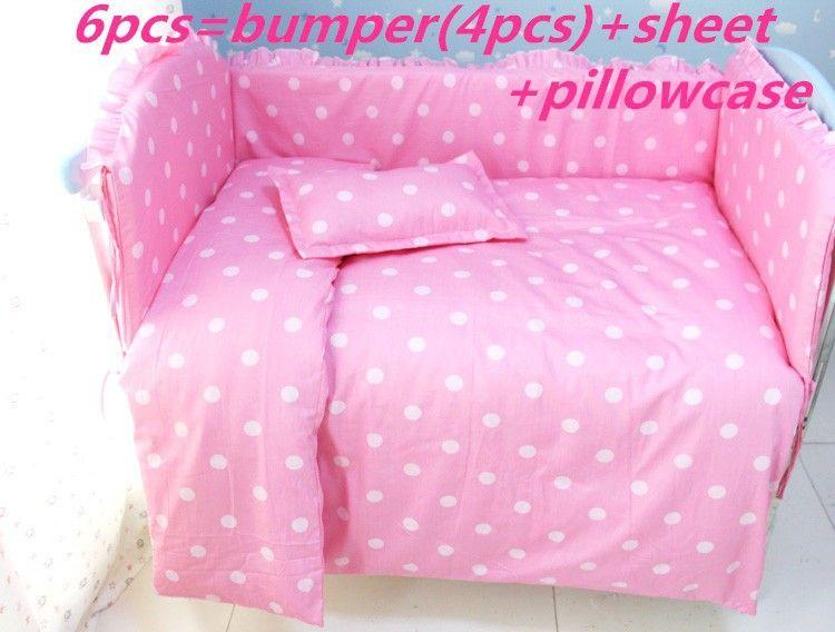 Günstige Förderung 6 Stücke Rosa Baby Bettwäsche Set 100 Baumwolle