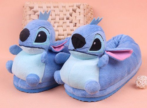 Girls & Ladies Cute Stitch Novelty Slippers Warm Winter Daily Women Shoes  with Anti-slip Sole, Blue Cute Stitch slippers One size fits most feet up  to US ...