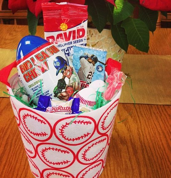 Baseball easter basket baseball pen and cards from work baseball easter basket baseball pen and cards from work chocolate negle Image collections