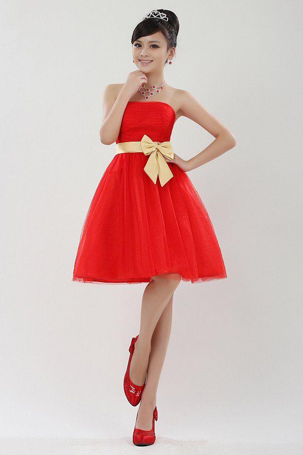 Exteravagant gold belt red bride suit bridesmaid dress princess ...
