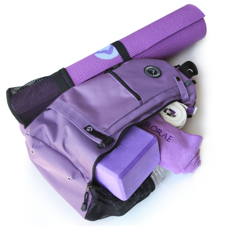 7f0cc476ae1e Amazon.com   Aurorae Yoga Mat Sport Bag Multi Purpose Crossbody Sling  Backpack. Great for Yoga