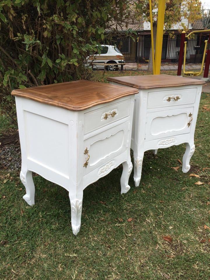 Veladores provenzal cubierta color miel madera nativa - Sofas antiguos de madera ...