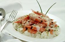 Clearwater Shell on Shrimp with Fennel-Pernod Sauce