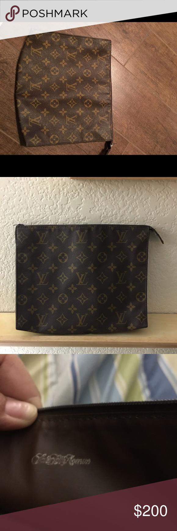 641841068cb Louis Vuitton Cosmetic bag by sax fifth Avenue Vintage Louis Vuitton ...