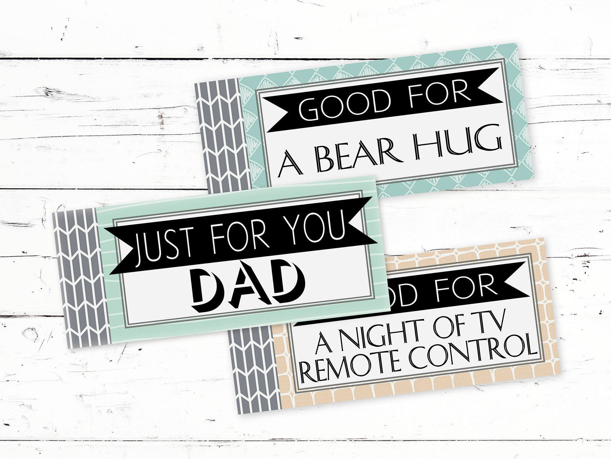 Coupon Book For Dads - Printable Birthday Coupons For Dad - Gift ...