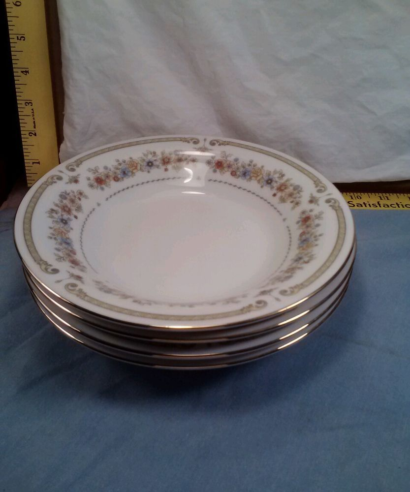 "LiLing Fine China Jung Shen Chippendale Set of 4 Soup/Salad/Cereal 8 1/4"" Bowls #LiLingFineChina"