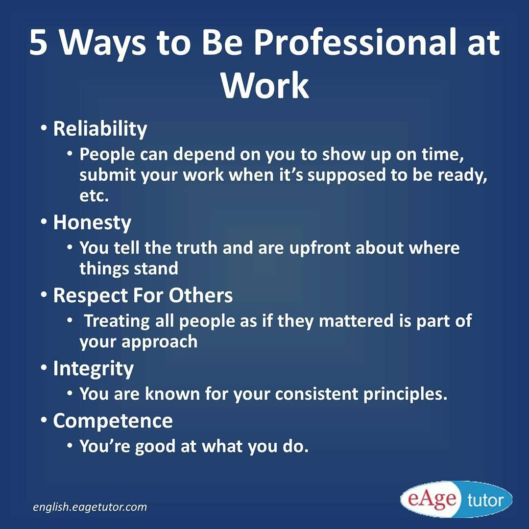 professionalism refers to your conduct at work  learn how