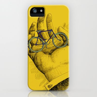 Vintage Outing Bicycle in the Palm of His Hand iPhone & iPod Case by Iconographique - $35.00