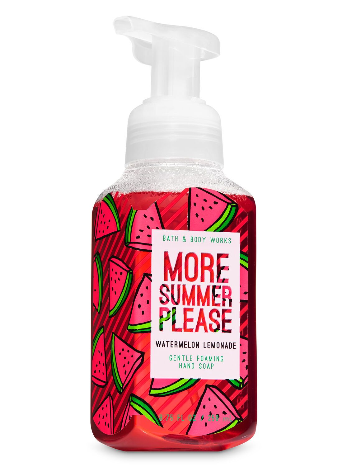Bath Body Works Watermelon Lemonade Gentle Foaming Hand Soap In