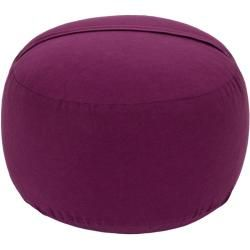 Photo of Yogakissen Glückssitz Basic small D, Bio-Dinkelspelzen (kbA), aubergine Yogabox